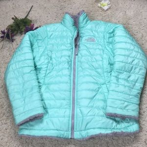 North Face Girls Winter Puff Coat Size L/G 14/16